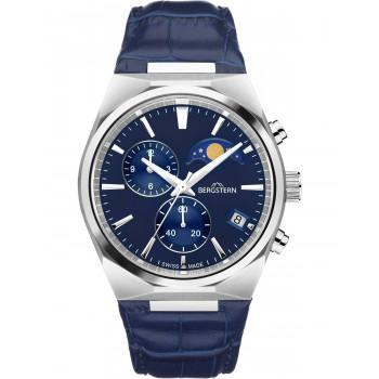 BERGSTERN Harmony Chronograph - B049G231  Silver case with Blue Leather