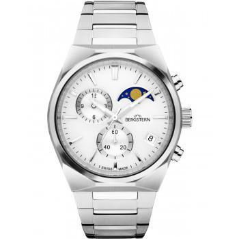BERGSTERN Harmony Chronograph - B049G233,  Silver case with Stainless Steel Bracelet