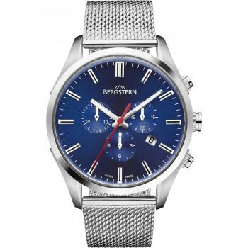 BERGSTERN Harmony Chronograph - B050G239,  Silver case with Stainless Steel Bracelet