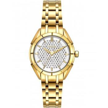 BREEZE Gemstonia Crystals - 212181.2  Gold case with Stainless Steel Bracelet