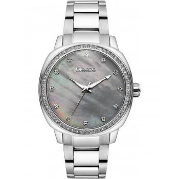 BREEZE Glamcy Crystals - 611081.2  Silver case with Stainless Steel Bracelet