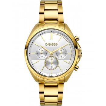 BREEZE GlowRaider Chronograph - 212031.2  Gold case with Stainless Steel Bracelet