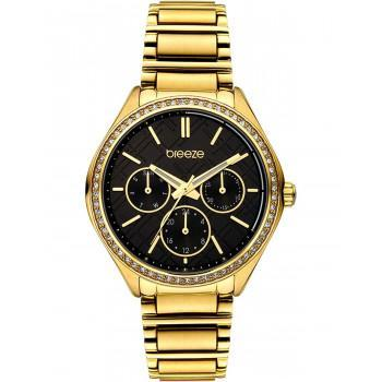 BREEZE Intensifire Crystals - 212041.6  Gold case with Stainless Steel Bracelet
