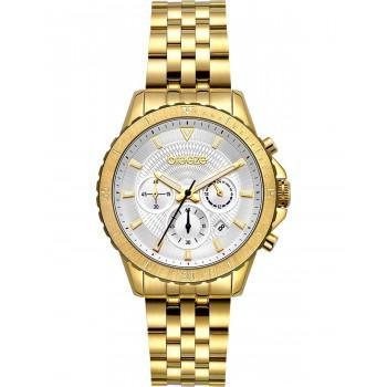 BREEZE Invernia Chronograph - 212131.1  Gold case with Stainless Steel Bracelet