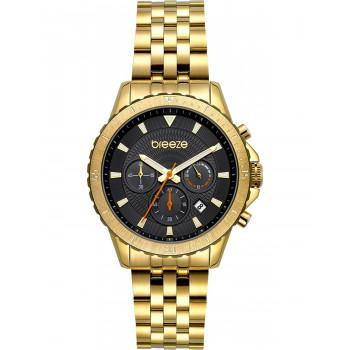 BREEZE Invernia Chronograph - 212131.2  Gold case with Stainless Steel Bracelet