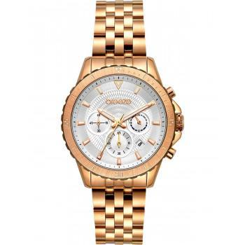 BREEZE Invernia Chronograph - 212131.4  Rose Gold case with Stainless Steel Bracelet