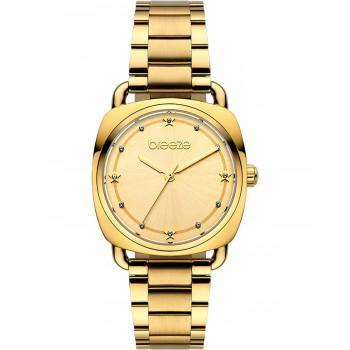 BREEZE Musette Crystals - 212071.2  Gold case with Stainless Steel Bracelet