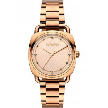 BREEZE Musette Crystals - 212071.4  Rose Gold case with Stainless Steel Bracelet