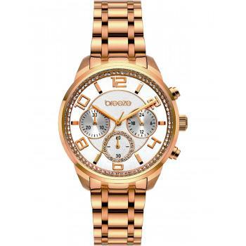 BREEZE Myrina Crystals - 212211.4  Rose Gold case with Stainless Steel Bracelet