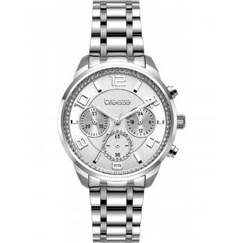 BREEZE Myrina Crystals - 612211.6  Silver case with Stainless Steel Bracelet
