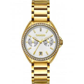 BREEZE Royalisse Crystals - 212161.2 Gold case with Stainless Steel Bracelet