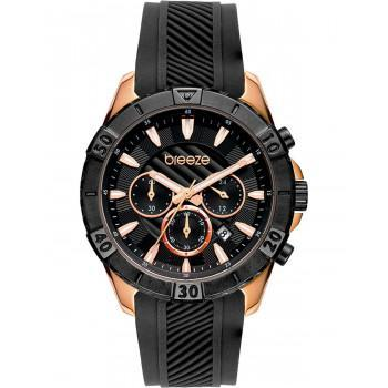 BREEZE Sugarcoat Chronograph - 112231.2  Rose Gold case with Black Rubber Strap