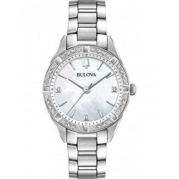 BULOVA Diamond - 96R228  Silver case with Stainless Steel Bracelet