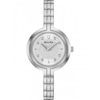 BULOVA Diamond Collection Rhapsody - 96P214   Silver case with Stainless Steel Bracelet