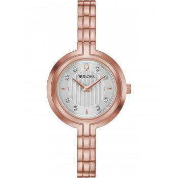 BULOVA Diamond Collection Rhapsody - 97P145  Rose Gold case with Stainless Steel Bracelet