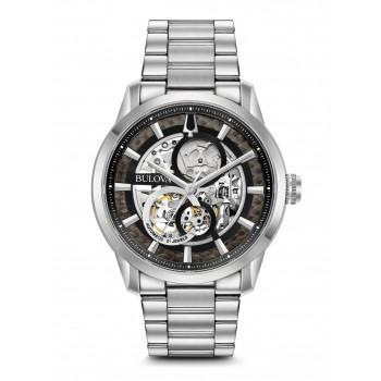 BULOVA  Sutton Collection Automatic Skeleton - 96A208 Silver case  with Stainless Steel Bracelet
