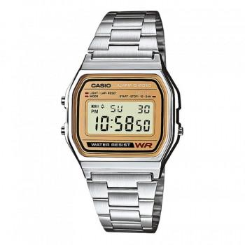 CASIO Collection - A-158WEA-9EF, Silver case with Stainless Steel Bracelet