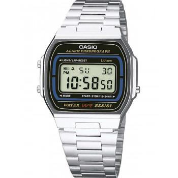 CASIO Collection - A-164WA-1VES, Silver case with Stainless Steel Bracelet