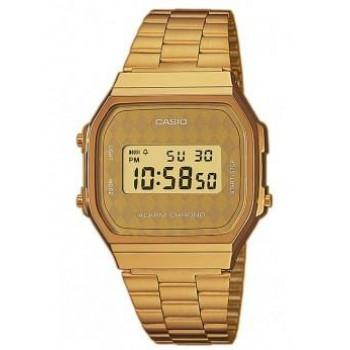 CASIO Collection - A-168WG-9BWEF,  Gold case with Stainless Steel Bracelet