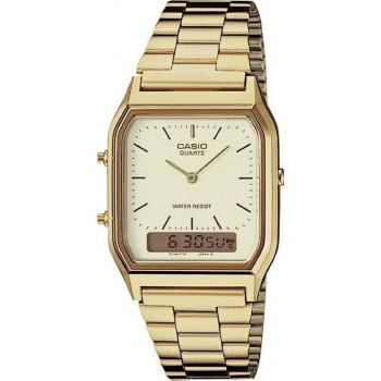 CASIO Collection - AQ-230GA-9DM,  Gold case with Stainless Steel Bracelet