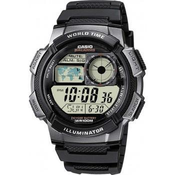 CASIO Collection Digital - AE-1000W-1BVEF, Black case with Black Rubber Strap
