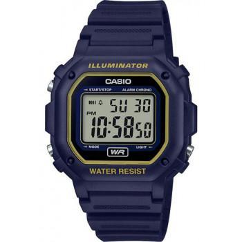 CASIO Collection - F-108WH-2A2EF,  Blue case with Blue Rubber Strap
