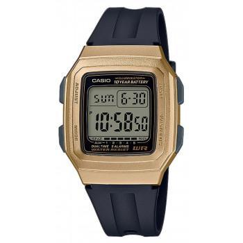 CASIO Collection - F-201WAM-9AVEF,  Gold case with Black Rubber Strap