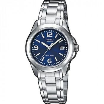 CASIO Collection - LTP-1259PD-2AEF,  Silver case with Stainless Steel Bracelet