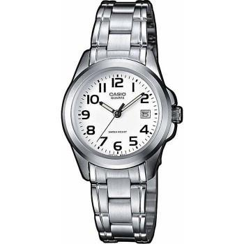 CASIO Collection - LTP-1259PD-7BEF,  Silver case with Stainless Steel Bracelet