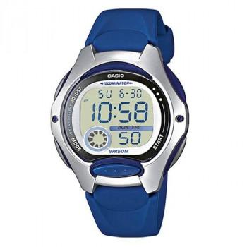 CASIO Collection - LW-200-2AVEF  Silver case with Blue  Rubber Strap