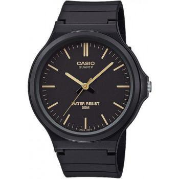 CASIO Collection - MW-240-1E2VEF,  Black case with Black Rubber Strap