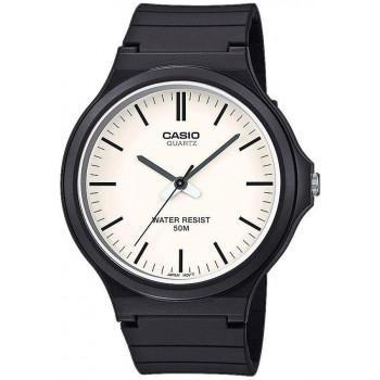 CASIO Collection - MW-240-7EVEF,  Black case with Black Rubber Strap