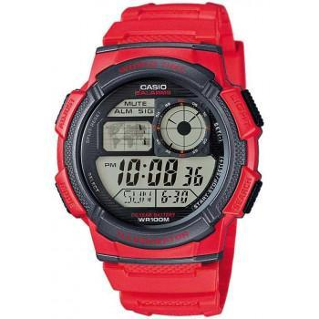 CASIO Collection Sport - AE-1000W-4AVEF,  Red case with Red Rubber Strap