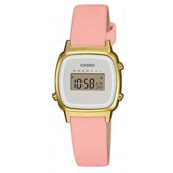 CASIO Collection Vintage - LA-670WEFL-4A2EF,  Gold case with Pink Leather Strap
