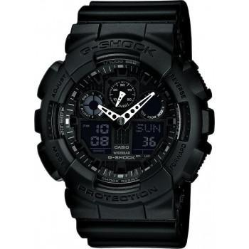 CASIO G-Shock - GA-100-1A1ER Black case, with Black Rubber Strap