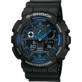 CASIO G-Shock - GA-100-1A2ER Black case, with Black Rubber Strap