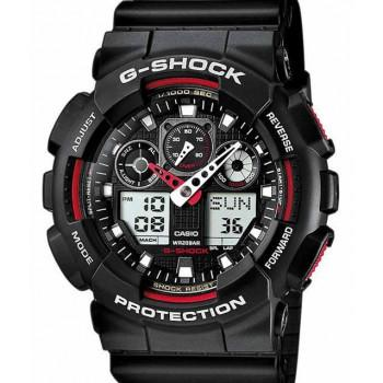 CASIO G-Shock - GA-100-1A4ER Black case, with Black Rubber Strap