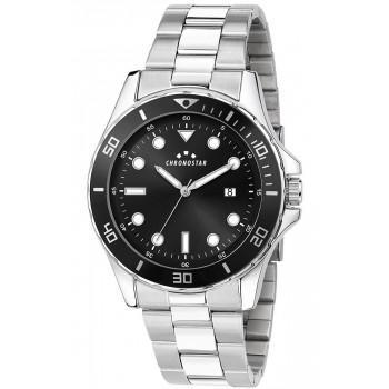 CHRONOSTAR Captain Mens - R3753291004,  Silver case with Metallic Bracelet