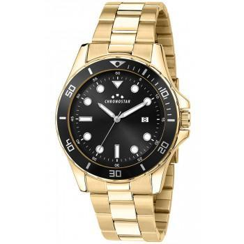 CHRONOSTAR Captain Mens - R3753291001,  Gold case with Metallic Bracelet