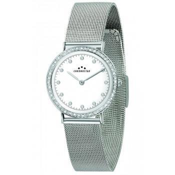 CHRONOSTAR Crystals Ladies -  R3753252517  Silver case with Metallic Bracelet