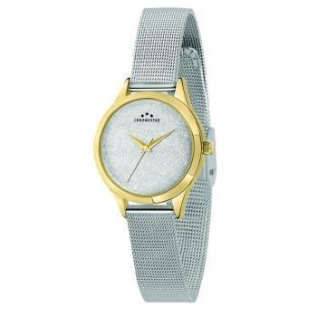 CHRONOSTAR  Ladies - R3753279507,  Gold case with Metallic Bracelet