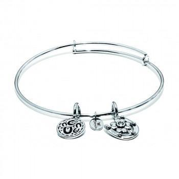 CHRYSALIS Βραχιόλι από Ορείχαλκο Life Hope Expandable Bangle Silver CRBT0004SP
