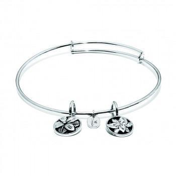 CHRYSALIS Βραχιόλι από Ορείχαλκο Life Hope Expandable Bangle Silver CRBT0010SP