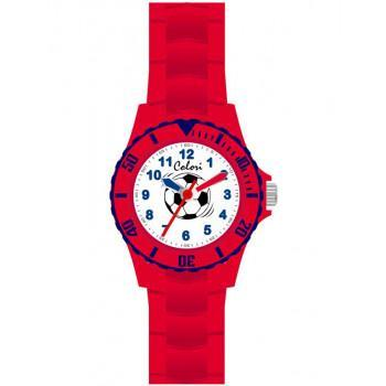 COLORI Kids - CLK058, Red Case with Red Rubber Strap