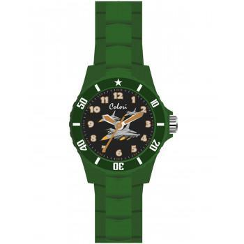 COLORI Kids - CLK059  Green case with Green Rubber Strap
