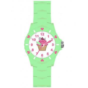 COLORI Kids - CLK061, Green Case with Green Rubber Strap