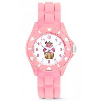 COLORI Kids - CLK119  Pink case with Pink Rubber Strap
