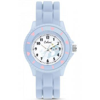 COLORI Kids Whale - CLK114  Light Blue case with Light Blue Rubber Strap