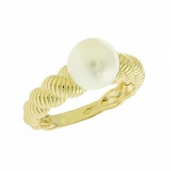 TBS Creations Δαχτυλίδι από χρυσό 14 καρατίων BSR081482