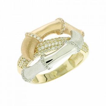 TBS Creations Δαχτυλίδι από χρυσό 14 καρατίων BSR082381